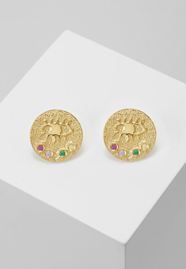 KRESSIDA SMALL PIN EARRINGS - Oorbellen - gold-coloured/multi