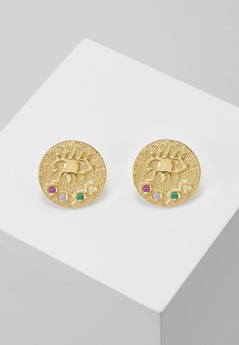 Hermina Athens - KRESSIDA SMALL PIN EARRINGS - Ohrringe - gold-coloured/multi