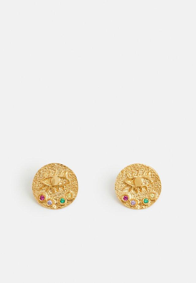 KRESSIDA SMALL PIN EARRINGS - Örhänge - gold-coloured/multi