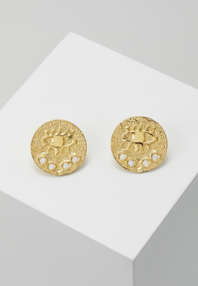 KRESSIDA SMALL PIN EARRINGS - Oorbellen - gold-coloured