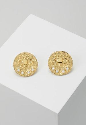 KRESSIDA SMALL PIN EARRINGS - Kolczyki - gold-coloured