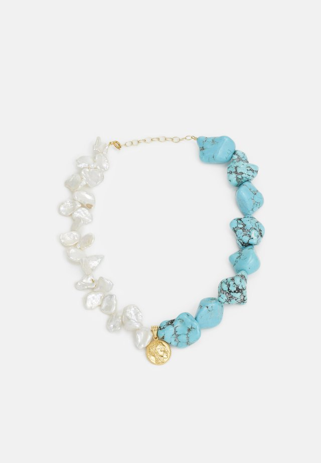ATHÉNA NECKLACE - Halsband - gold-coloured/turquoise