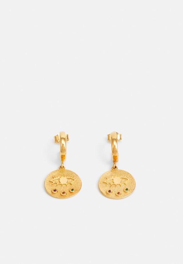 KRESSIDA MINI HUGGIES - Örhänge - gold-coloured/multi