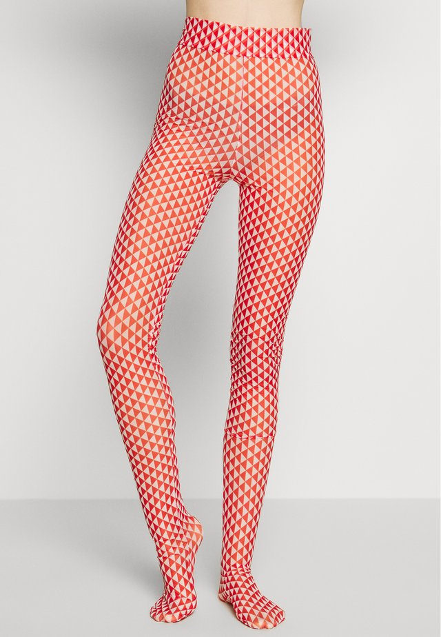 FLAG TIGHTS - Leggings - red