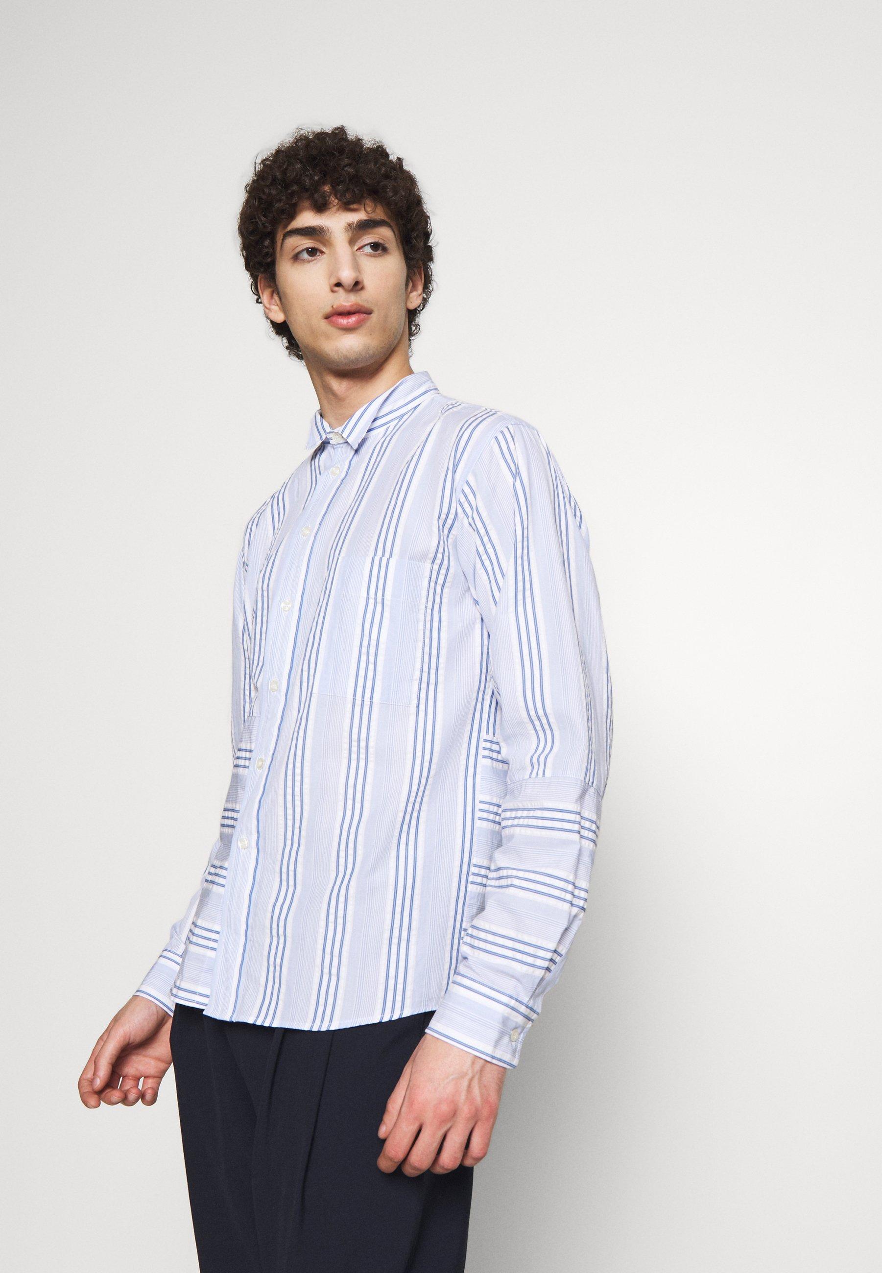 Henrik Vibskov TAPE SHIRT - Koszula - light blue/white