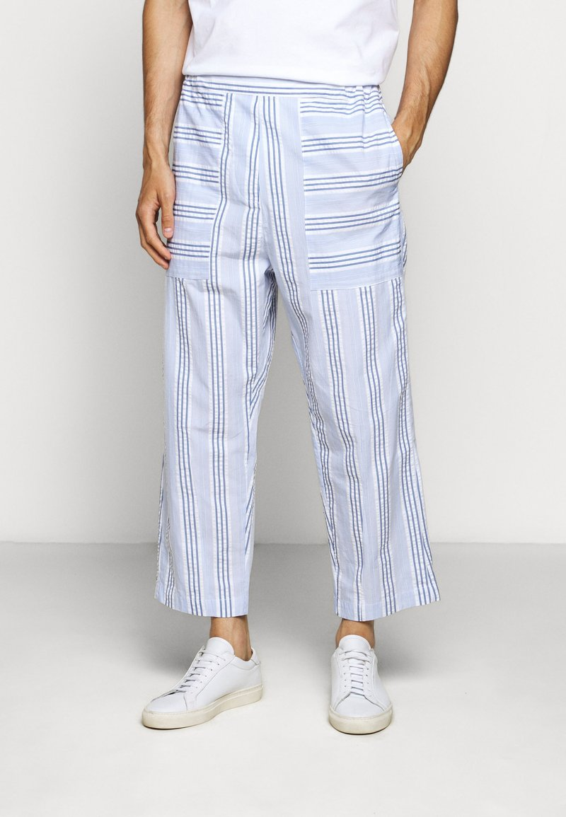 Henrik Vibskov - KAII SHIRT PANTS - Trousers - blue