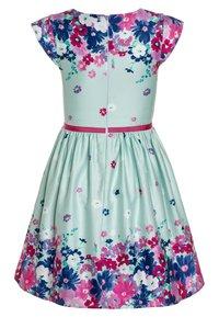 happy girls - BORDERPRINT MIT BLUMEN - Sukienka letnia - ice blue - 1
