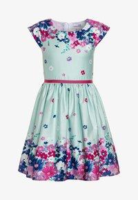 happy girls - BORDERPRINT MIT BLUMEN - Sukienka letnia - ice blue - 0
