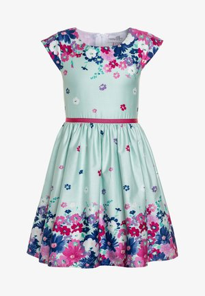 BORDERPRINT MIT BLUMEN - Vestido informal - ice blue