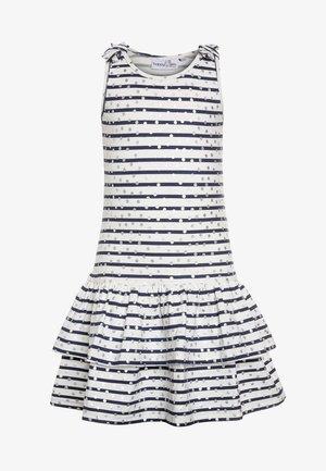STREIFEN MIT PUNKTEN - Sukienka z dżerseju - navy
