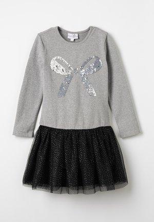 STERNENWENDE PAILETTE - Day dress - grey/black