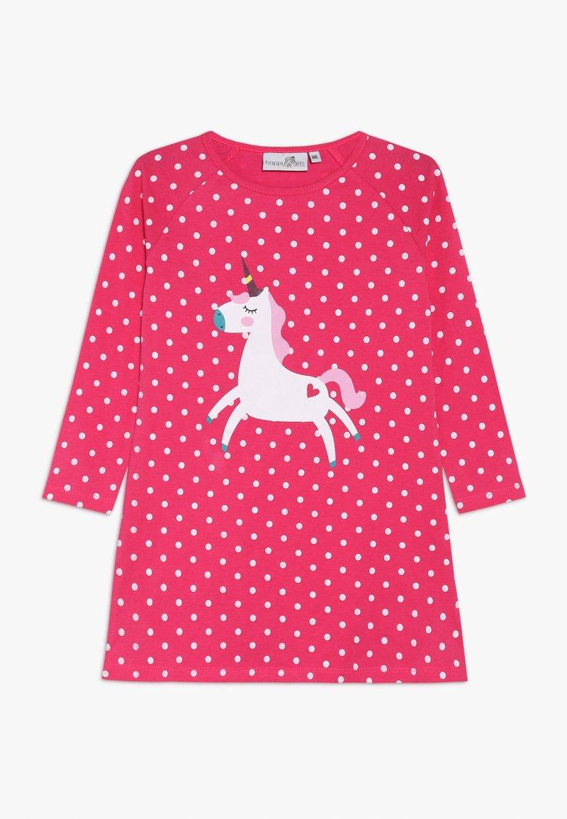 happy girls - UNICORN DOTS - Jersey dress - pink