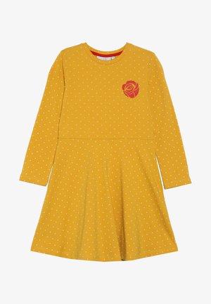 DOTS AND BIG HEART - Robe en jersey - mustard yellow