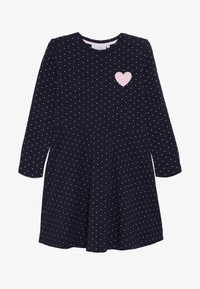 happy girls - DOTS AND BIG HEART - Jersey dress - navy - 3