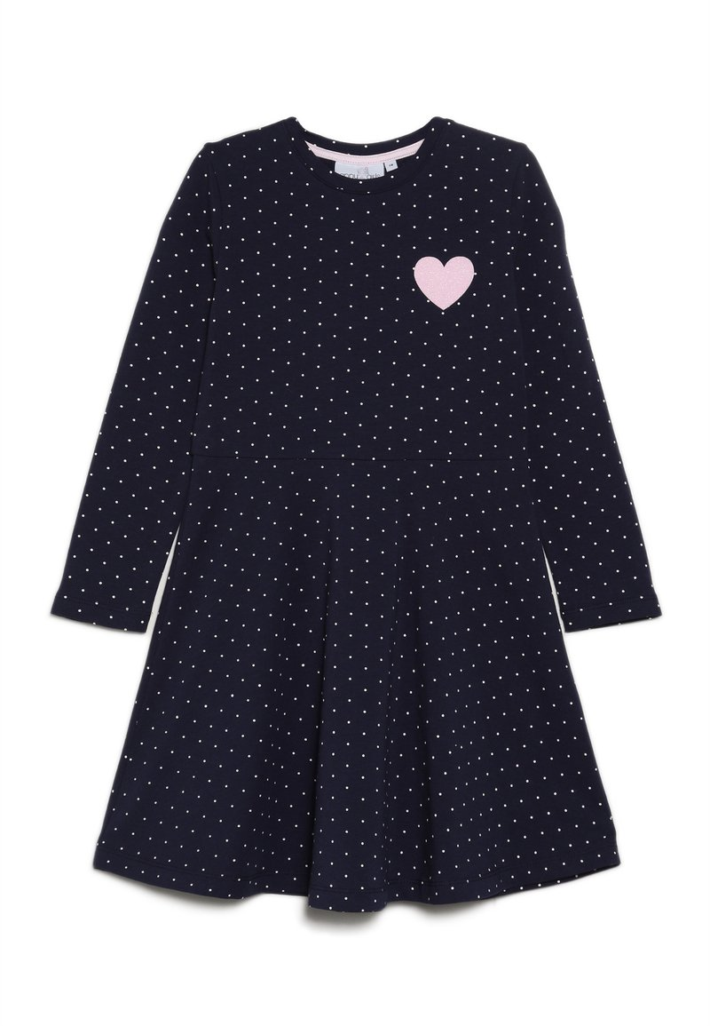 happy girls - DOTS AND BIG HEART - Jersey dress - navy