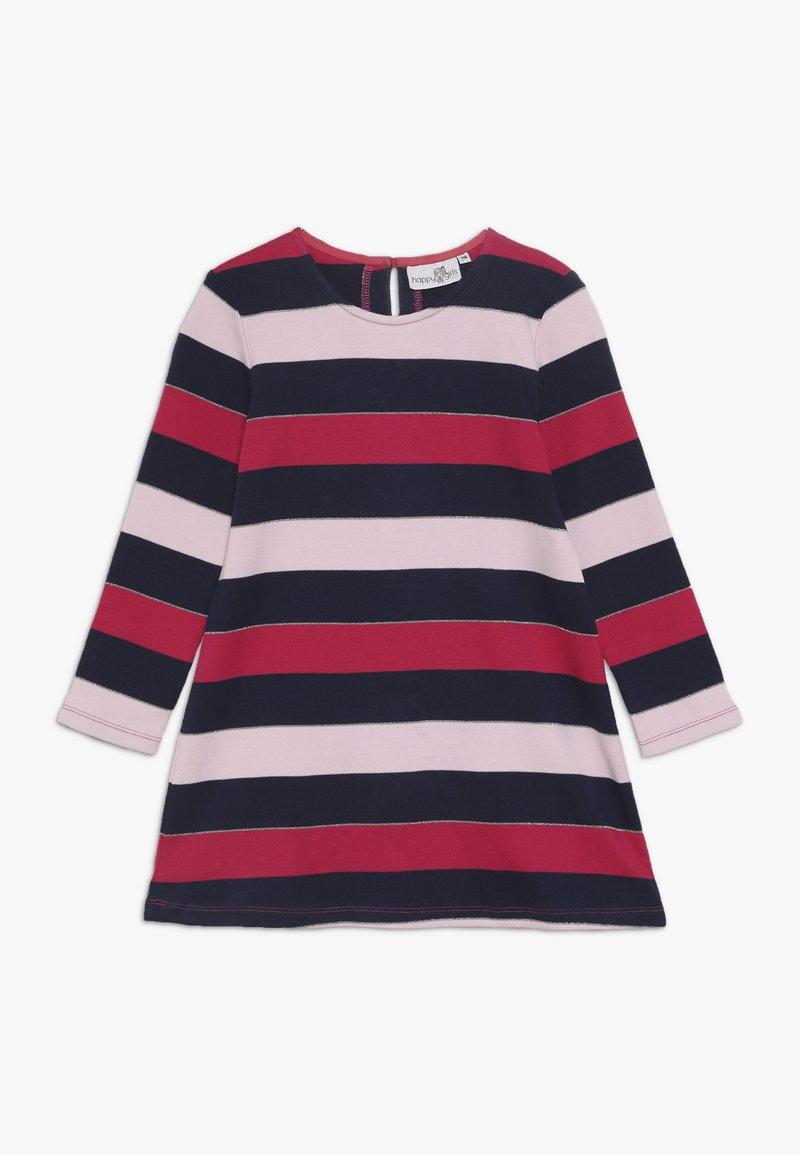 happy girls - STRIPES - Jersey dress - navy