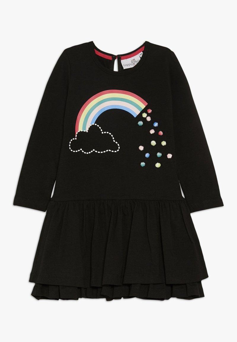 happy girls - RAINBOW - Jersey dress - black