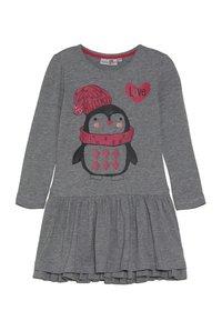 happy girls - PENGUIN - Jersey dress - grey melange - 0