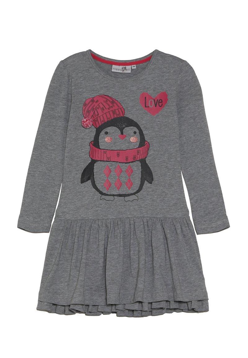 happy girls - PENGUIN - Jersey dress - grey melange