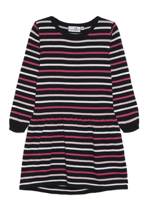 THIN STRIPE - Pletené šaty - navy