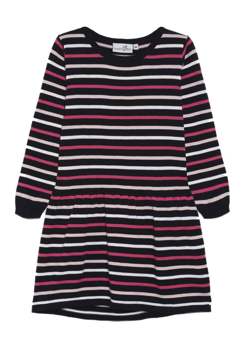 happy girls - THIN STRIPE - Jumper dress - navy