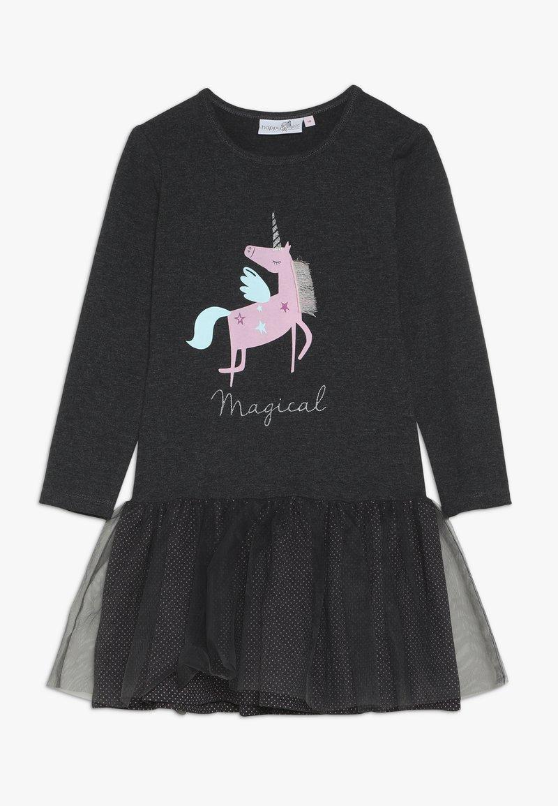 happy girls - UNICORN - Jersey dress - anthracite