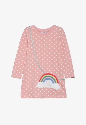 DOTS RAINBOW POCKET - Day dress - rose