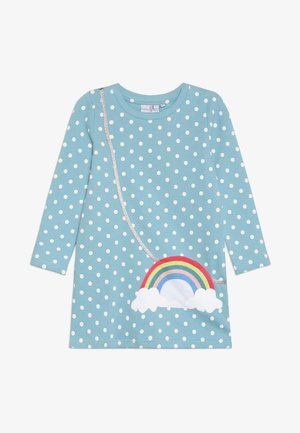 DOTS RAINBOW POCKET - Day dress - türkis