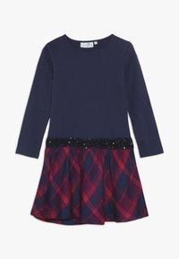 happy girls - TARTAN - Jerseyklänning - navy - 0