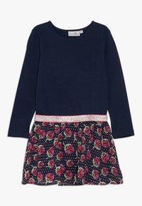 happy girls - WITH STRAWBERRY SKIRT - Jerseyklänning - navy - 0