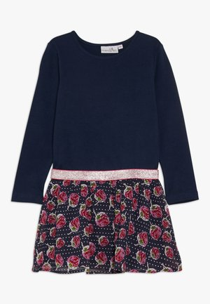 WITH STRAWBERRY SKIRT - Žerzejové šaty - navy