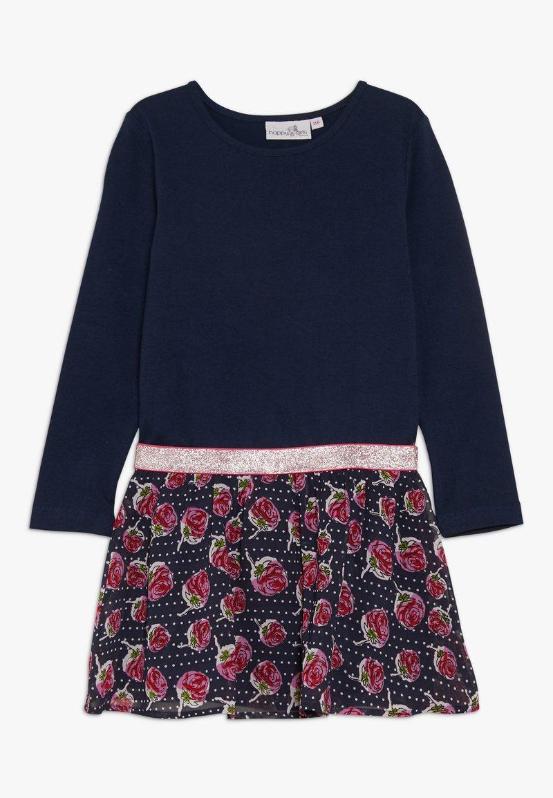 happy girls - WITH STRAWBERRY SKIRT - Jerseyklänning - navy