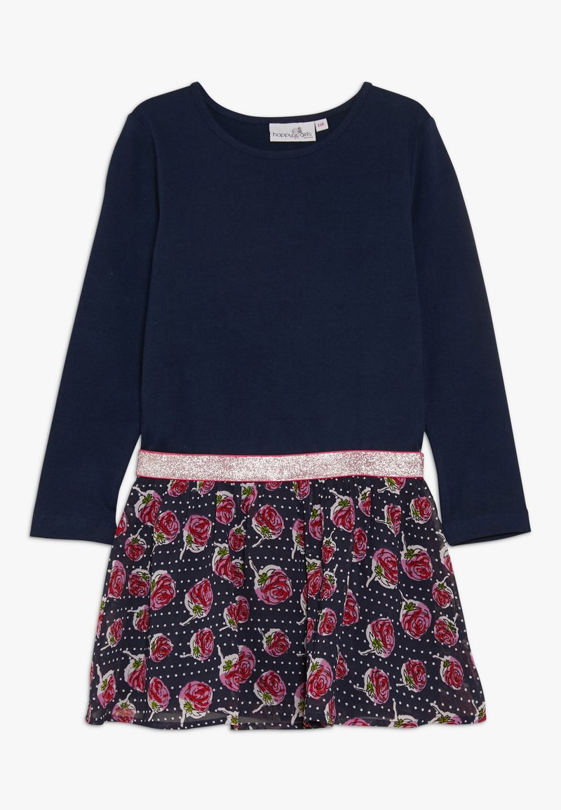 happy girls - WITH STRAWBERRY SKIRT - Vestido ligero - navy