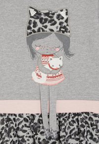 happy girls - LEOPARD - Jersey dress - grey melange - 3