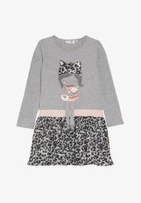 happy girls - LEOPARD - Jersey dress - grey melange - 2