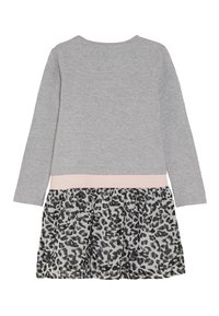 happy girls - LEOPARD - Jersey dress - grey melange - 1
