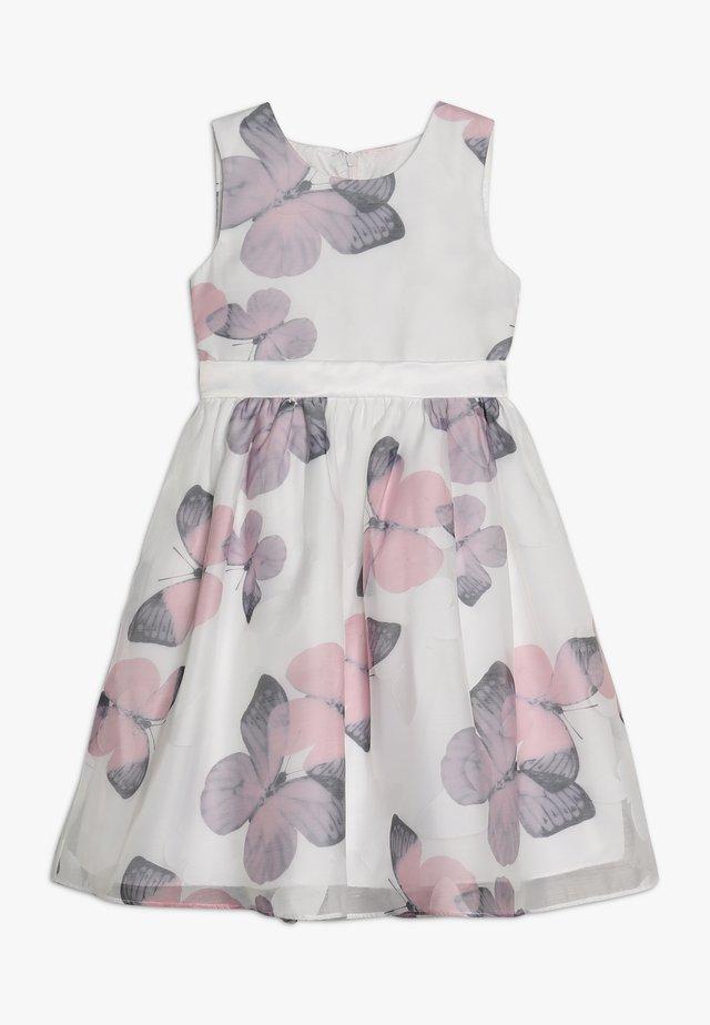 Cocktailkleid/festliches Kleid - weiss/pink