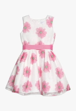 Cocktail dress / Party dress - weiß/ pink