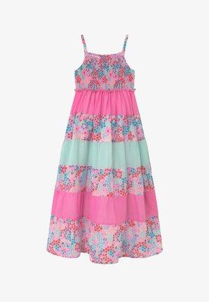Vestido largo - neon pink