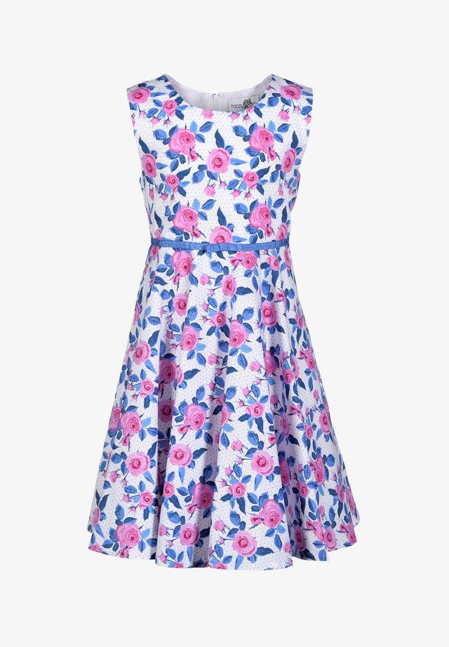 Korte jurk - royalblau