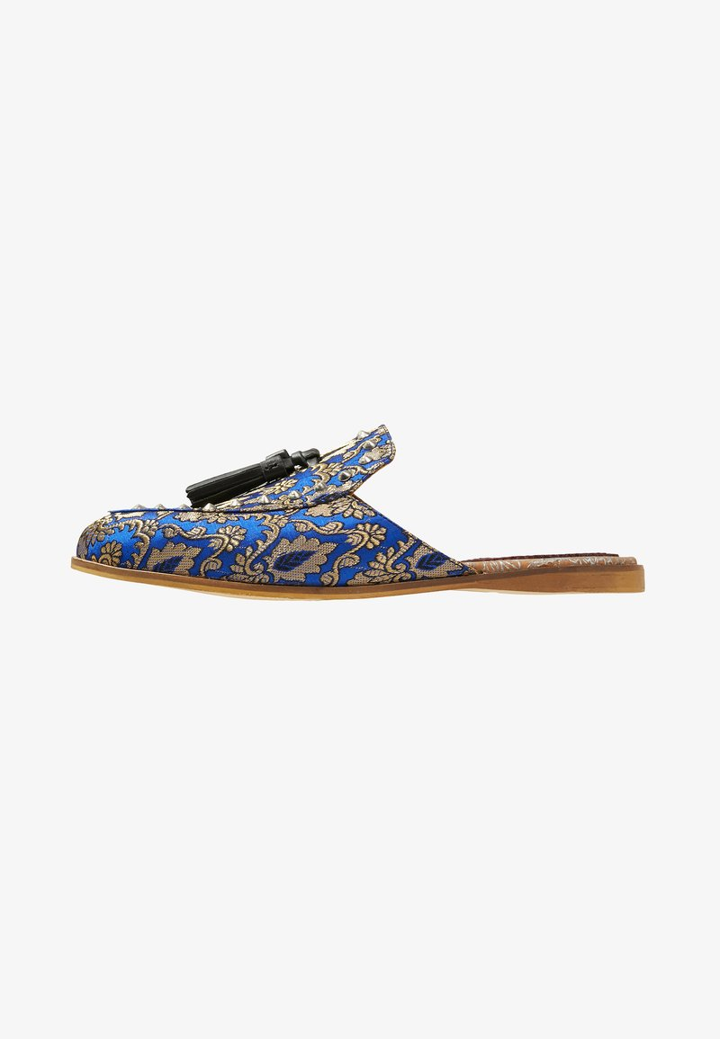 House of Hounds - HELIOS TASSEL SLIPPER - Pantofle - navy/gold