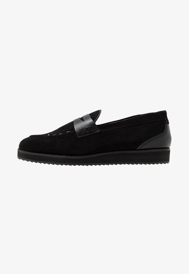 BOWIE PENNY - Nazouvací boty - black