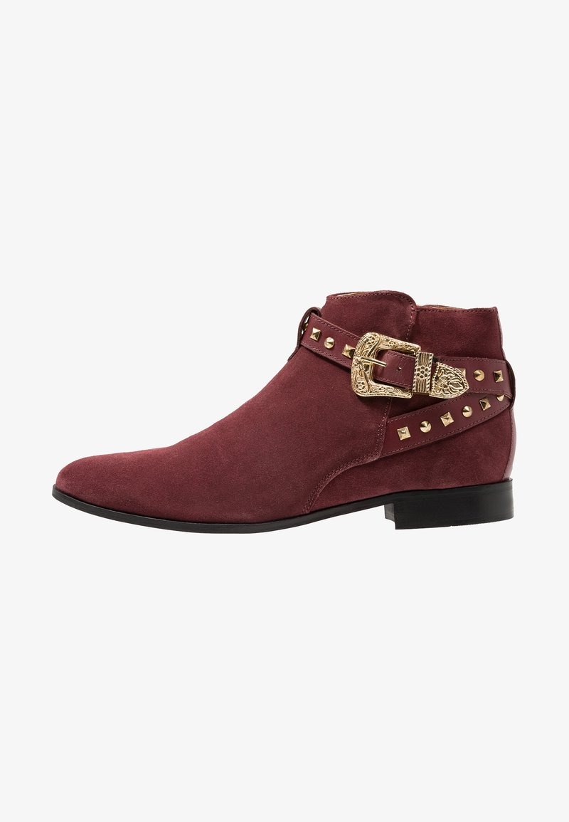 House of Hounds - HARPY STUD - Cowboy/biker ankle boot - burgundy