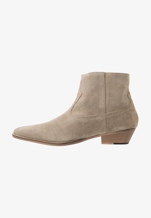 OUTLAW ZIP BOOT - Cowboy/biker ankle boot - sand