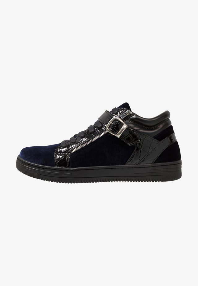 GRIFFIN MID - Sneaker high - black/navy