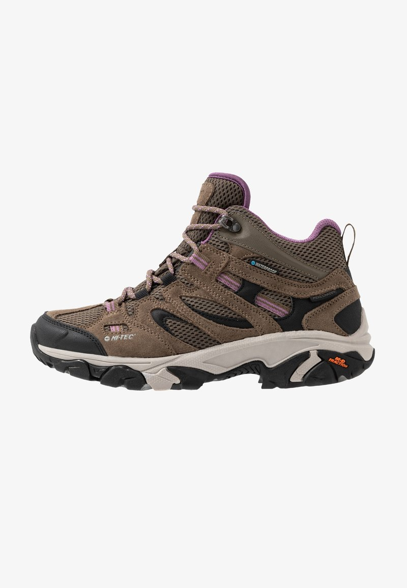 Hi-Tec - RAVUS VENT MID WP WOMENS - Zapatillas de senderismo - smokey brown/taupe/very grape