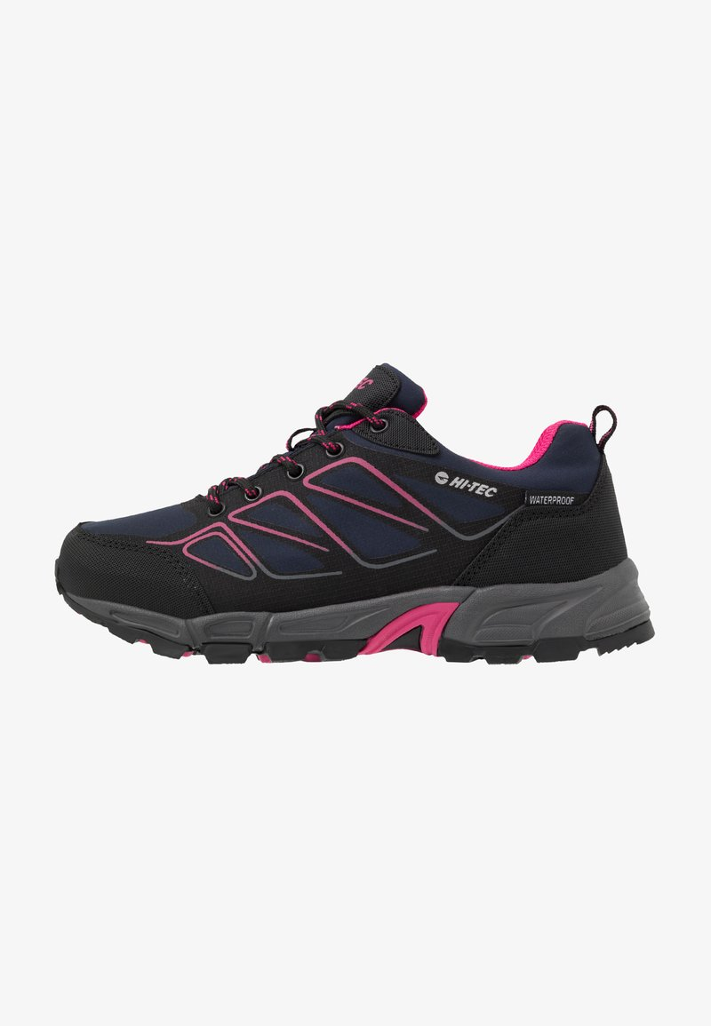 Hi-Tec - RIPPER LOW WP WOMENS - Hiking shoes - navy/black/magenta