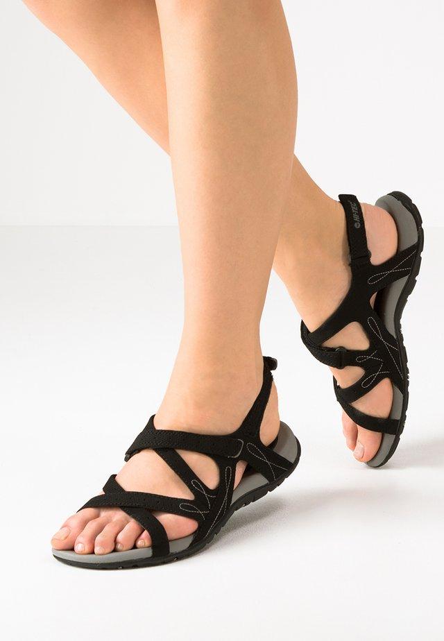 WAIMEA FALLS - Walking sandals - black/grey