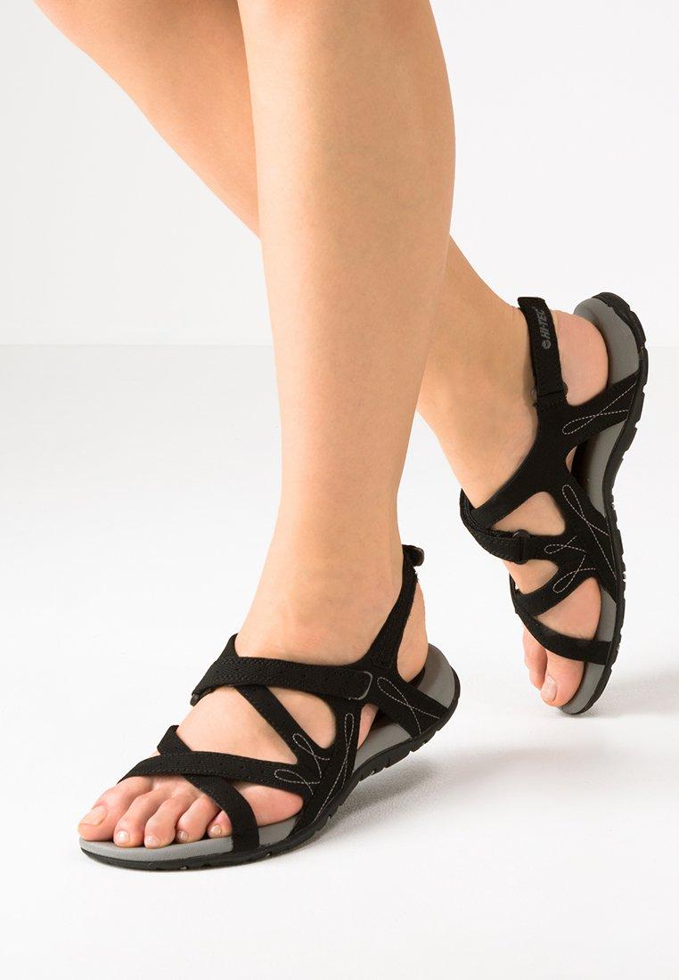 Hi-Tec - WAIMEA FALLS - Walking sandals - black/grey