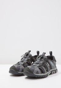 Hi-Tec - COVE  - Walking sandals - grey/charcoal/sprout - 3